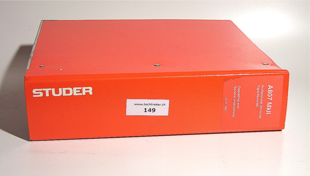 Studer A807 Service Manual Related Keywords & Suggestions - Studer